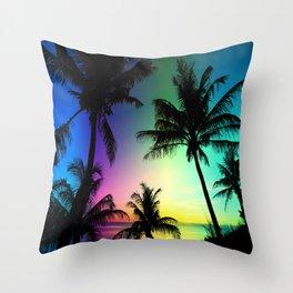 California Palm Trees Dream Throw Pillow