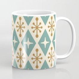 Mid Century Modern Atomic Triangle Pattern 102 Coffee Mug