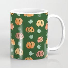 Pumpkins with Leaves Pattern on Myrtle Coffee Mug