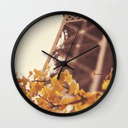 AUTUMN IN PARIS Wall Clock