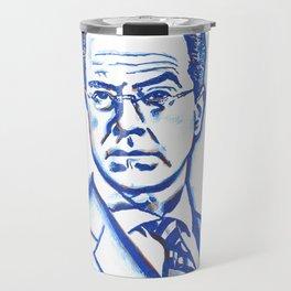 Stephen Colbert in Blue Travel Mug