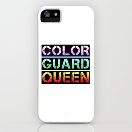 Color Guard Queen iPhone Case