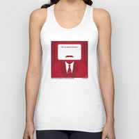 will ferrell Tank Tops featuring No278 My Anchorman Ron Burgundy minimal movie poster by Chungkong