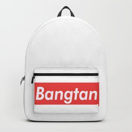 BTS Bangtan red Backpack