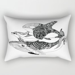 Whale, Orca & dolphin - the Cetaceans Rectangular Pillow