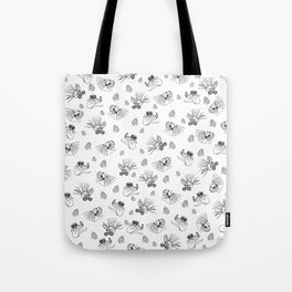 Pet Fish - White print Tote Bag
