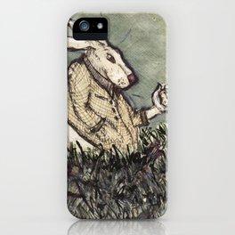 I'm Late I'm Late! White Rabbit iPhone Case