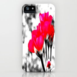 Hot Pink Flowers Pop Of Color iPhone Case