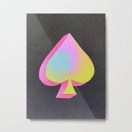 Iridescent Spade Metal Print