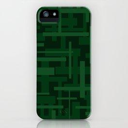 Dark Green Rectangles iPhone Case