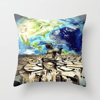 equality Throw Pillows featuring Equality by Kiki collagist