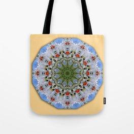 Flower Mandala, Red Poppies Tote Bag