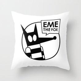 Eme - No Color Throw Pillow