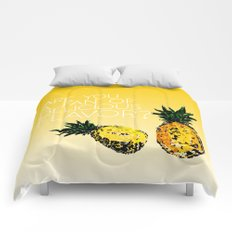 that pineapple crime show with shawn and gus Comforters