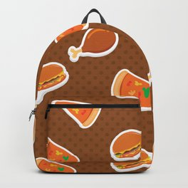 Pizza Burgers and Fried Chicken Picnic Time Backpack