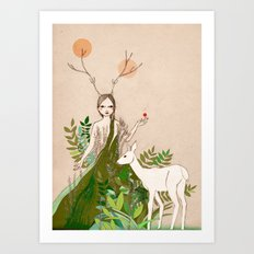 Mori girl Art Print