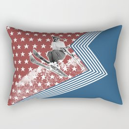 Ski like a Girl for USA Rectangular Pillow