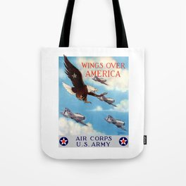Wings Over America -- Air Corps WW2 Tote Bag