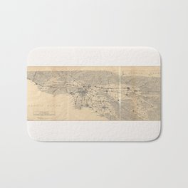 Vintage 1915 Los Angeles Area Map Bath Mat