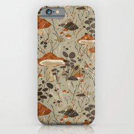 Mushroom Forest Pattern | Alex Gold Studios iPhone Case