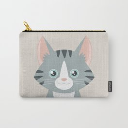 Grey Tabby Cat Carry-All Pouch