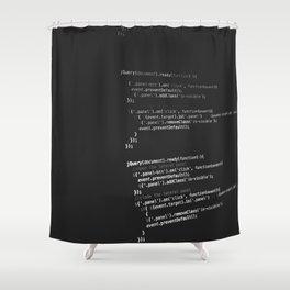 BLACK - WHITE - PROGRAMMING - CODE - TECH Shower Curtain