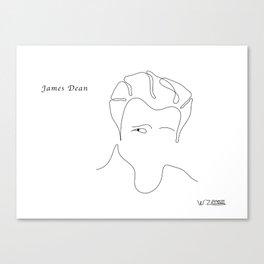 James Dean, by Will Zurmann Canvas Print