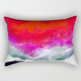 Abstract in Red, White and Purple Rectangular Pillow