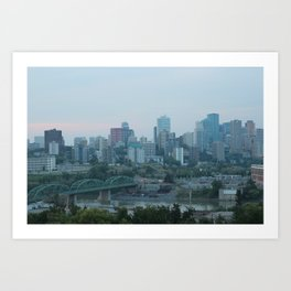 Downtown Edmonton Art Print