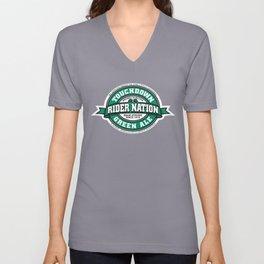 Rider Nation Green Ale Unisex V-Neck