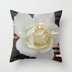 The Rose That Lives In The City Throw Pillow