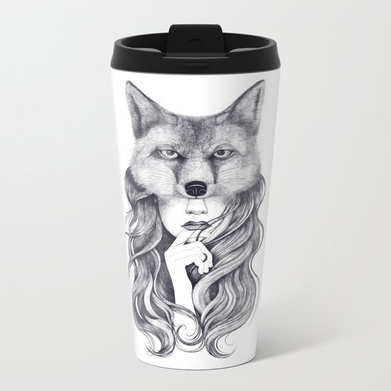 Fox in soul Metal Travel Mug