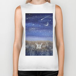 Hares and the Crescent Moon Biker Tank