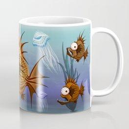 Psycho Fish Piranha with Bone Coffee Mug