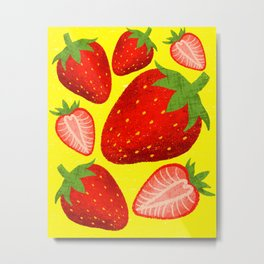 Sweet as Strawberries Metal Print