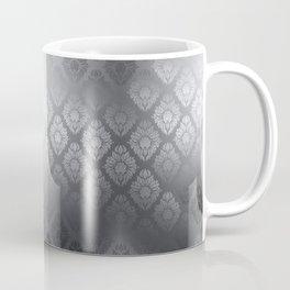 """""""Neutral gray Damask Pattern"""" Coffee Mug"""