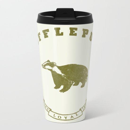 Hufflepuff House Metal Travel Mug