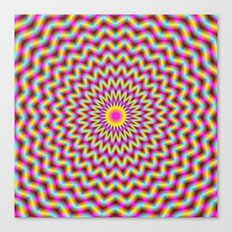 Rosette in Pink Yellow and Blue Canvas Print