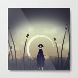 Cold Field Metal Print