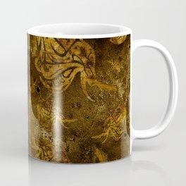 Mosaic of golden elephants V WH Coffee Mug