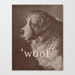 Famous Quotes #1 (anonymous dog, 1941) Canvas Print