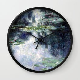 Claude Monet Pond with Water Lilies Wall Clock
