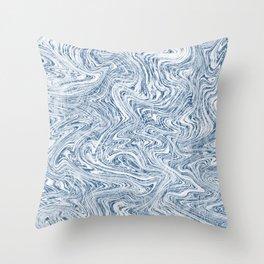 Navy Blue Smoke Screen Throw Pillow