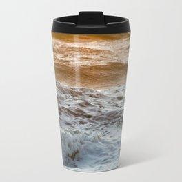 Coral Ocean Sunset Travel Mug