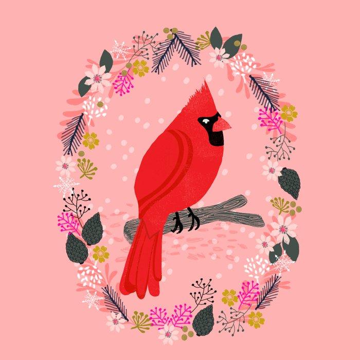 Northern Cardinal by Andrea Lauren  Duvet Cover