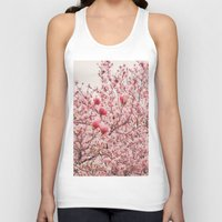 cherry blossoms Tank Tops featuring Cherry Blossoms by Vivienne Gucwa