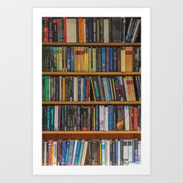 Bookshelf Books Library Bookworm Reading Pattern Art Print