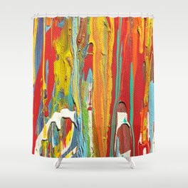 Abstract Circus Clown Shower Curtain