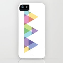 Fig. 029 Rainbow Triangles Geometric Mountains iPhone Case
