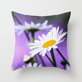 Exit 17 daisy * purple is the color of love Throw Pillow